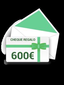 Cheque de 600 €