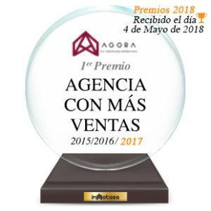 Premio mayor número de ventas agencia inmobiliaria en murcia