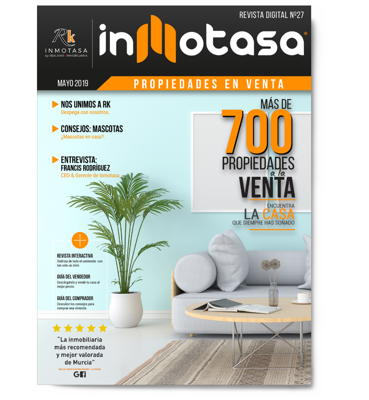 portada revista sofa inmobiliaria inmotasa