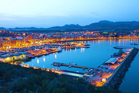 Vistas del puerto de Mazarrón