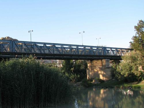 Archena puente de hierro río segura